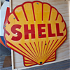 SHELL Porcelain Sign