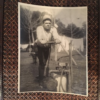 Original Photo of Babe Ruth from Business Manager, Christie Walsh's Personal Collection - Baseball