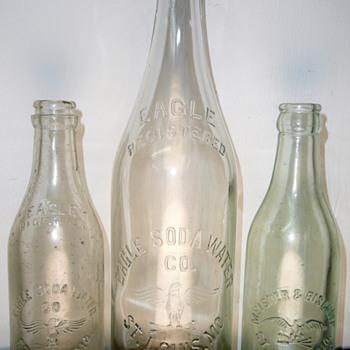 Eagle Soda Water Co. and Meisner & Bischoff Bottles