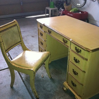 Antique Charles Sligh Desk and Chair - Furniture