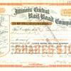 Illinois Central Railroad Stock Certificate--1901