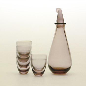 SV decanter and glasses, Nanny Still (Riihimäen, 1950) - Art Glass