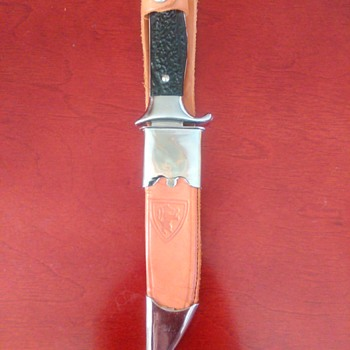 Bowie knife with unusual sheath - Sporting Goods