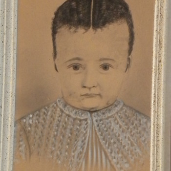 Antique Child Painting - Fine Art