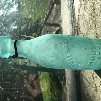 Houston Texas blob top bottle - Bottles