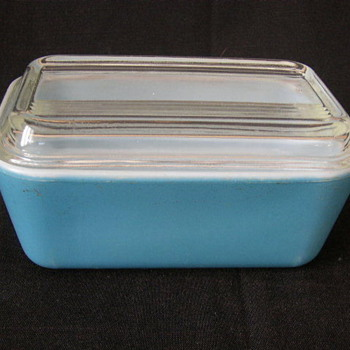 Blue #502 Refrigerator Dish With Lid - Kitchen