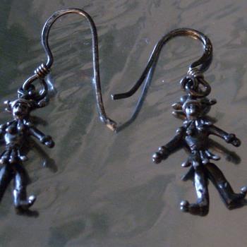 """Mini """"Dancing"""" Jester Earrings"""