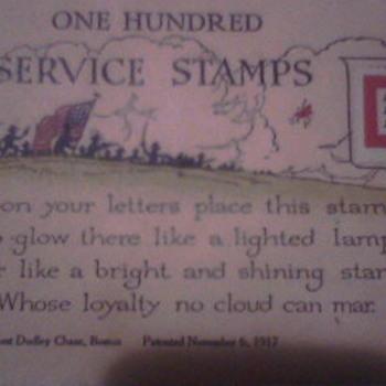 Service Stamps WW1?