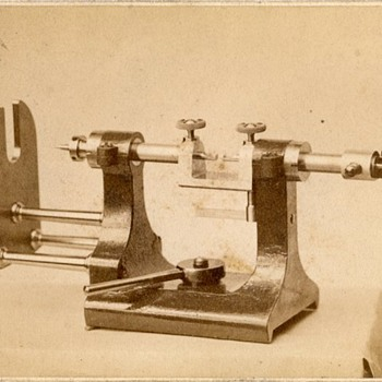 1890s CDV of Waltham Watch Factory Equipment (attributed) - Photographs