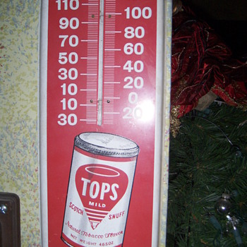 topps snuff thermometer - Advertising