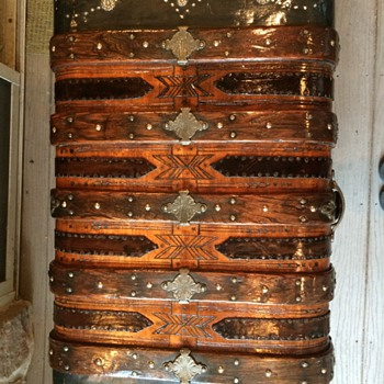 Round top Trunk Pat. date Nov. 1874 One of My Favorites - Furniture
