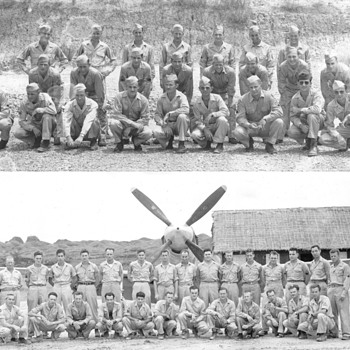 Korea Army Pilots and  others, and Boys with Flags - Military and Wartime