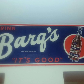 Barqs root beer sign - Signs