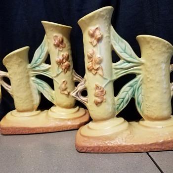 Roseville Bittersweet Double Vases