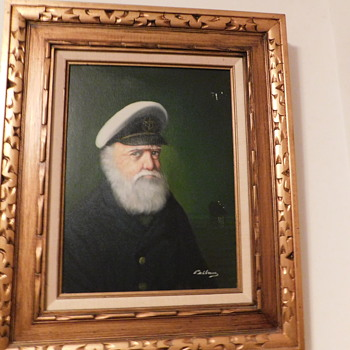 Vintage Pelbam Self Portrait as a Sea Captain... One of many Self Portraits as a Sea Captain, Rabbi, Dock Worker, Old Man...