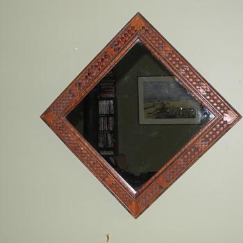Tramp Art frame. - Folk Art