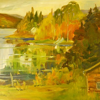 "Oil on Canvas""Jackie Lanthier""Canadian Artist,Circa 20 Century - Fine Art"