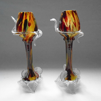 Welz Goblet Vases  - Art Glass