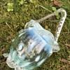 Victorian art glass opalescent thorn basket