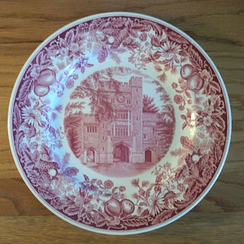 Vassar College Commemorative Wedgwood Plate - China and Dinnerware