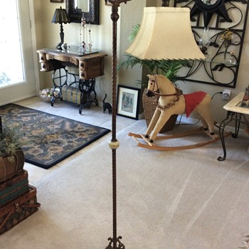 Antique and vintage floor lamps collectors weekly vintage bridge lamp art deco or victorian floor lamp cast iron mozeypictures Gallery