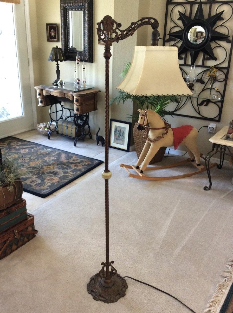 Vintage Bridge Lamp Art Deco Or Victorian Floor Lamp Cast