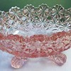 LG Wright Daisy & Button - Pink Oval Footed Small Nut Candy Bowl