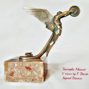 Triomphe Mascot By Bazin circa 1920 by F. Bazin - Art Deco