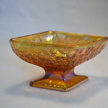 Amber Diamond Bowl - Glassware