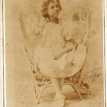 Cabinet Card by Frank Wendt Child Genius Gertie Cochran - Photographs