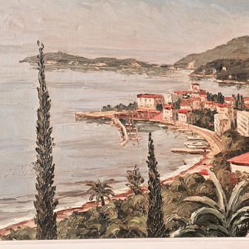 French Riviera (Mystery Signature) IMPASTO - New Pics!!! - Fine Art