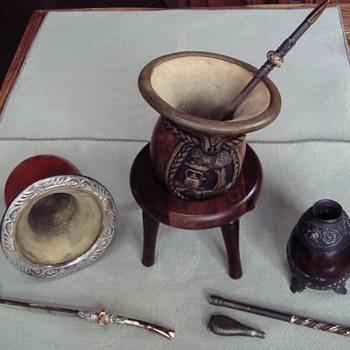 Cuias,BombasGauchoTeaMate - Folk Art