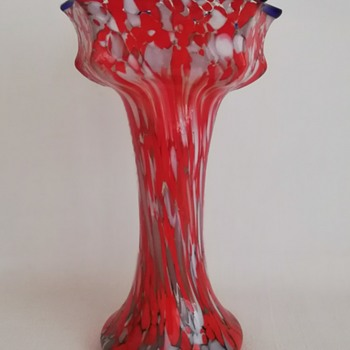 Large Welz Knuckle Vase - Art Glass