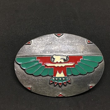 Silver & turquoise eagle belt buckle  - Accessories