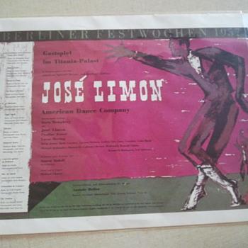 Jose Limon Berliner Festwochen 1957 Poster