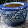 Large Japanese Porcelain Hibachi -  Tachibana-yaki