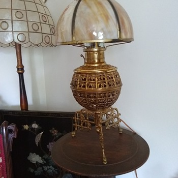 "Estate find, can't find one like it anywhere.  Engraved "" The Rochester"" - Lamps"