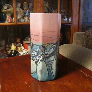 Daniel Edler Planetary Hexagon Series Art Glass Vase