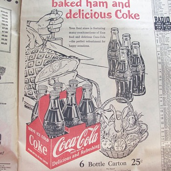 Easter Ham and Coca Cola - Advertising