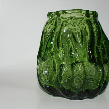 Vintage INGRID GLASHUETTE Glass Vase (I think) - Art Glass