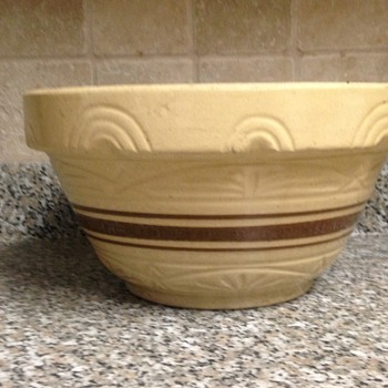 large yellowware bowl