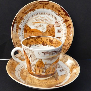 Antique Cup & Saucer, Lustre china, late Victorian. - China and Dinnerware
