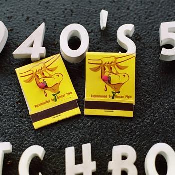 1950's? 7 Steers Restaurant Matchbooks - Advertising