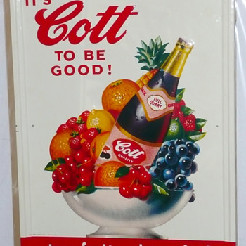 Cott Soda Sign  - Signs