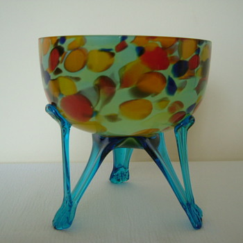 Spatter Bowl - Art Glass