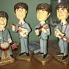 Original Car Mascot Beatles Bobblehead Dolls from 1964 + Dr Pepper clock