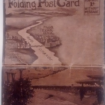 Vintage 11 folding post cards from mexico/texas