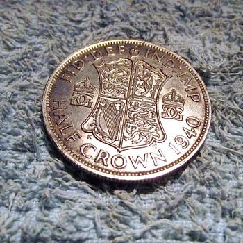 1940-ww2-british half crown-silver-mint.