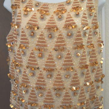 """Mad Men Sequin """"Bling"""" Sleeveless Wiggle Shirt - Womens Clothing"""