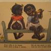 Vtg Post Card African American